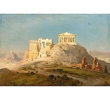 ERNST KARL EUGEN KOERNER - GERMAN, 1846-1927 VIEW OF THE AKROPOLIS, ATHENS 1911 by Adam Asar