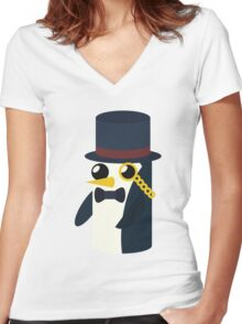 Monsieur Gunter Women's Fitted V-Neck T-Shirt
