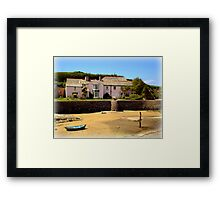 Cottage on Bude Beach Framed Print