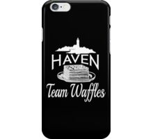 Haven Team Waffles White Logo iPhone Case/Skin