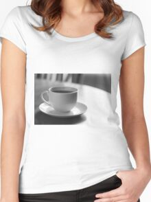 Coffee Cup Saucer Women's Fitted Scoop T-Shirt