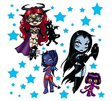Tarot & Friends Chibi design Photographic Print