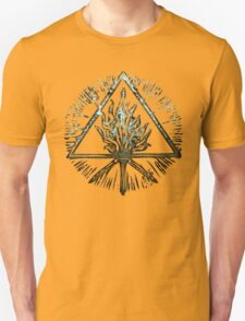 ANCIENT FIRE SYMBOL - shiny water T-Shirt