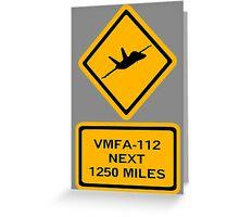 VMFA-112 Greeting Card