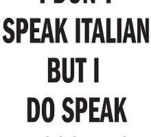 I DON'T SPEAK ITALIAN, SPEAK MOSCHINO by tculture