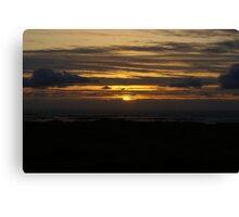 Sunset at Ocean Shores Canvas Print