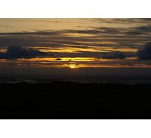 Sunset at Ocean Shores Photographic Print