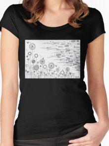 Summer garden Women's Fitted Scoop T-Shirt
