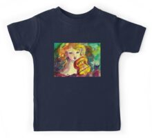 VIOLINIST GIRL ,VIOLIN  AND CAT  Kids Tee