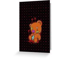 Teddy Gore Greeting Card