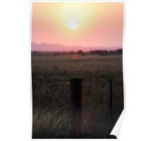 Lens flare sunset. Poster