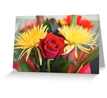 Mixed Flowers Bouquet Greeting Card