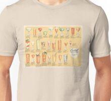 Mid Century Cocktail Suggestions Vintage Design Unisex T-Shirt