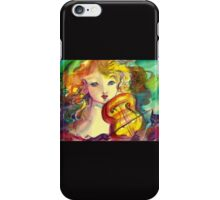 VIOLINIST GIRL ,VIOLIN  AND CAT  iPhone Case/Skin
