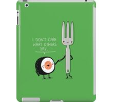 Sushi doesn't care iPad Case/Skin