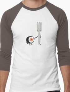 Sushi doesn't care Men's Baseball ¾ T-Shirt