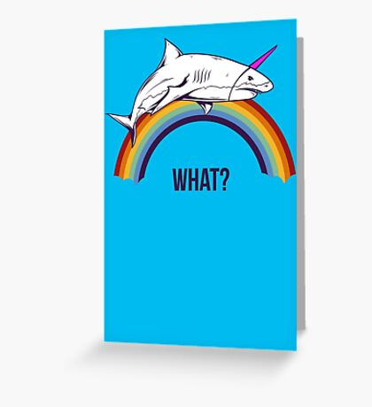 What Shark Greeting Card