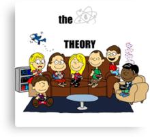 The Big Bang Theory Peanuts Canvas Print