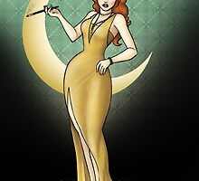 1920s Silver Screen Starlet by CatAstrophe