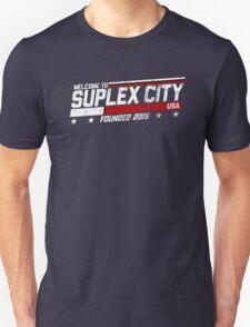 SUPLEX CITY, USA - White Unisex T-Shirt