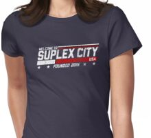 SUPLEX CITY, USA - White Womens Fitted T-Shirt