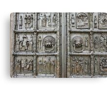 richly decorated ancient gates Canvas Print