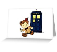 Doctor Who Peanuts Greeting Card