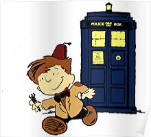 Doctor Who Peanuts Poster