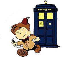 Doctor Who Peanuts Photographic Print