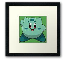 Bulbasaur Kirby Framed Print