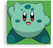 Bulbasaur Kirby Canvas Print