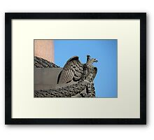 Double headed eagle spreads its wings Framed Print