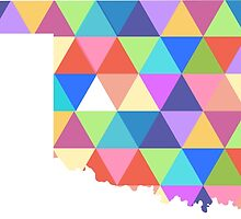 Oklahoma State Colorful Geometric Triangles Hipster by CorrieJacobs