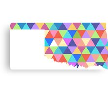 Oklahoma State Colorful Geometric Triangles Hipster Canvas Print
