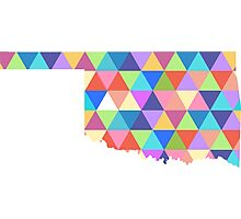 Oklahoma State Colorful Geometric Triangles Hipster Photographic Print