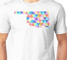 Oklahoma State Colorful Geometric Triangles Hipster Unisex T-Shirt