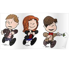 Doctor Who & Amy Comic Peanuts Poster