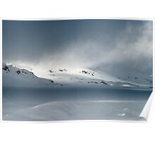 Moody snowscape Poster