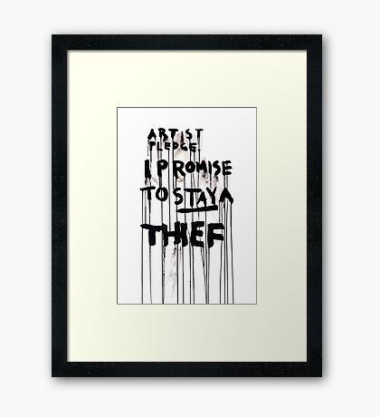 ARTIST PLEDGE Framed Print