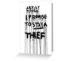 ARTIST PLEDGE Greeting Card