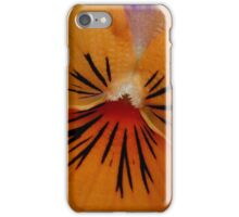 miniature pansy - close up iPhone Case/Skin
