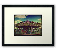 The Carnival Carousel ttv Framed Print