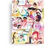 Yoga Morning Canvas Print