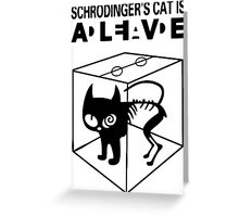 Schrodinger's Cat Science Big Bang Theory Greeting Card