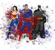 Superhero Trinity Splattart by ProjectPixel