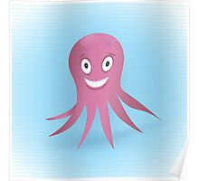 Cute hand drawn octopus. Poster