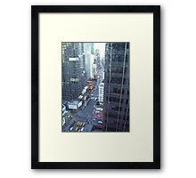 looking down on broadway Framed Print
