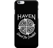 Haven Troubled Tattoo White Logo iPhone Case/Skin