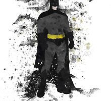 Batman Splatter Art by ProjectPixel
