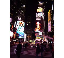 a neon night the city that never sleeps Photographic Print